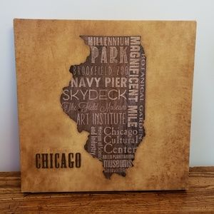 Other - Chicago, IL State Outline Canvas